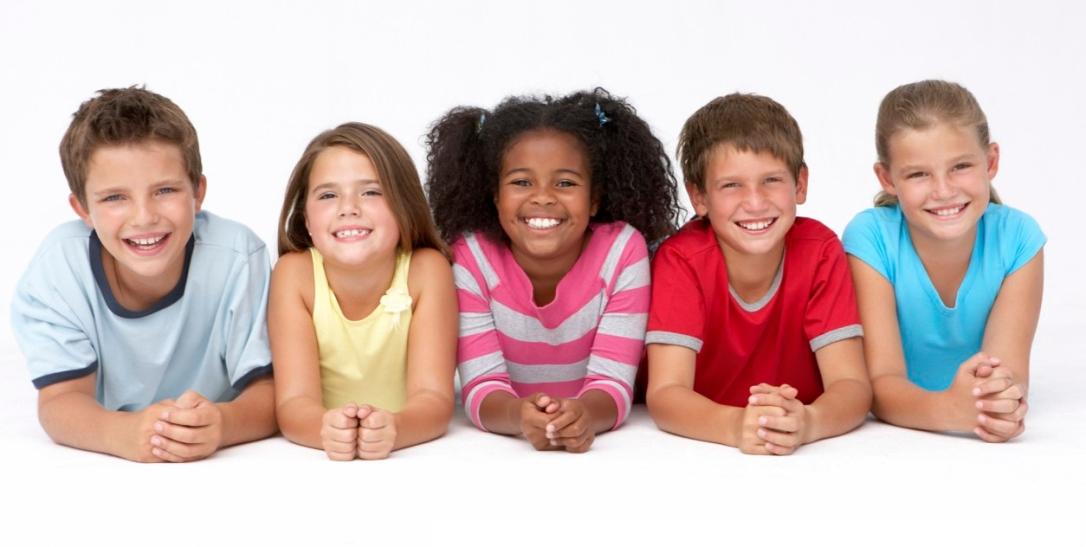 Five school-age children